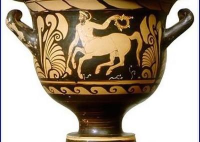 Cleofrades. Vaso com cenatauro, 500-480 A.C.