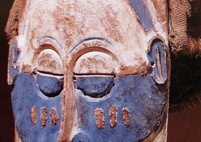 Máscara lulua (Congo).