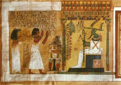 papiro da tumba do arquiteto  Kha e da sua mulher Merit. XVIII dinastia, 1554-1080 A.C.