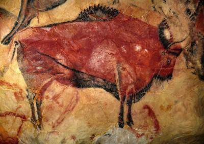 pintura na caverna de Altamira, cerca de 12.000 A.C.