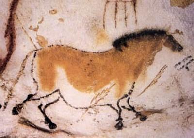 pintura na caverna de Lascaux. 18.000 A.C.
