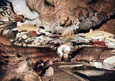 visão geral da caverna de Lascaux, 15.000 A.C.