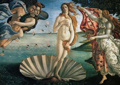 Botticelli, Sandro. O Nascimento de Vênus, 1484-86.