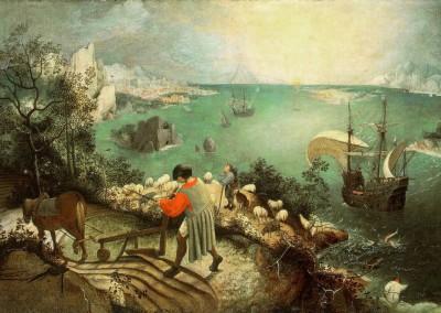 Bruegel, Peter. A queda de Ícaro, 1558.