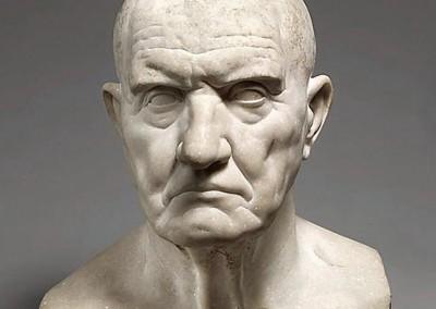 Busto romano em mármore, sd.