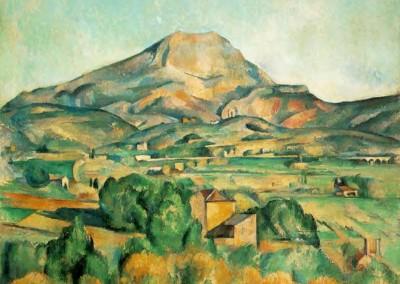 Cézanne, Paul. A montanha Saint Victoire, 1904-06.