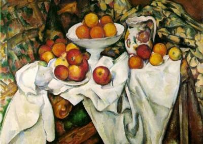 Cézanne, Paul. Maçãs e laranjas, 1895-1900.