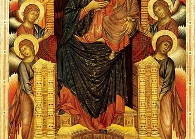 Cimabue. Madona entronizada, 1290-1300.