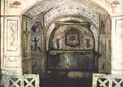 Cubiculum. Pintura sobre reboco, Roma, século IV.