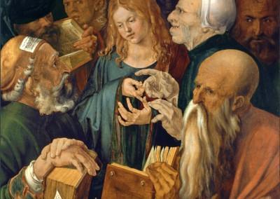 Dürer, Albrecht. Jesus entre os doutores, 1506.