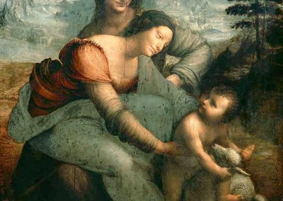 Da Vinci, Leonardo. Virgem, menino e Sant´Ana, 1510.