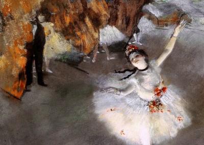 Degas, Edgar. Estrela no palco, 1877.