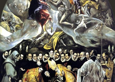 El Greco. O enterro do conde Orgaz, 1586.