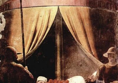 Francesca, Piero della. Sonho de Cosntantino, detalhe,1455.