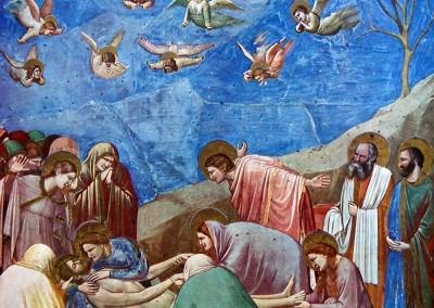 Giotto di Bodone. A lamanetação, 1305-06.