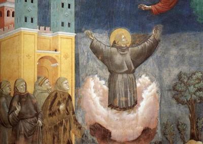 Giotto di Bondone. Extase de São Francisco, 1300.