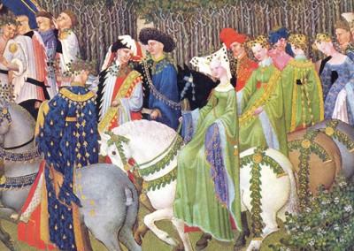 Limbourg, Paul. Excursão ao meio-dia, 1410.