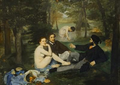 Manet, Edouard. Pic-nic na relva, 1863.