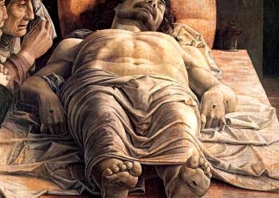 Mantegna, Andrea. Lamento sobre o Cristo morto, 1490.