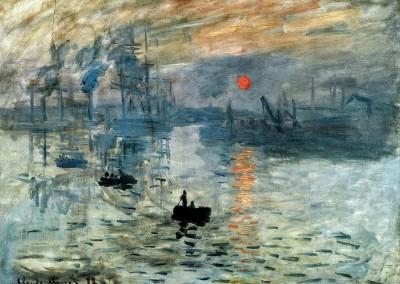 Monet, Claude. Impressão do sol nascente, 1872.