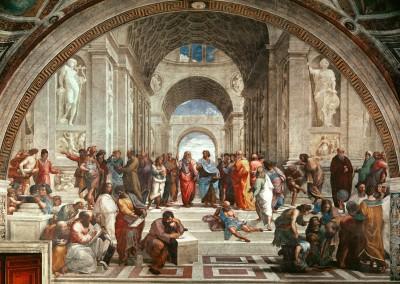 Sanzio, Rafael. Escola de Atenas, 1506-1510.