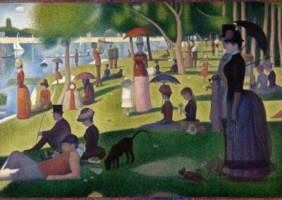 Seurat, Georges. Domingo de verão na Grande Jatte, 1884-86.