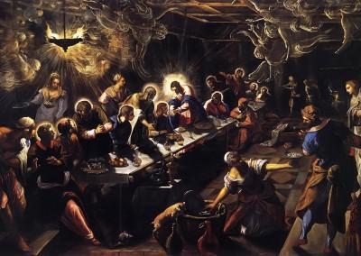 Tintoretto. A Santa Ceia, 1592-94.