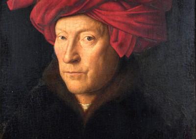 Van Eyck. Retrato de homem com turbante,1433.