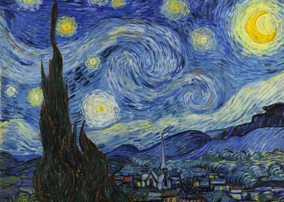 Van Gogh, Vincent. Noite estrelada, 1889.