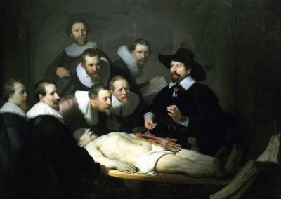 Van Rijn, Rembrandt. Lição de anatomia do dr. Tulp, 1632.