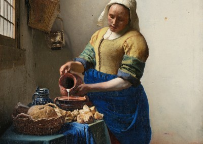 Vermeer, Johannes.  A leiteira, 1657-58.