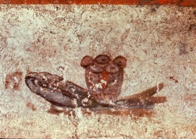 afresco das catacumbas de Roma, século IV.