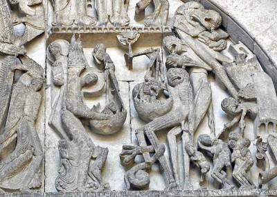 detalhe da Catedral de Autun, França, século XII.