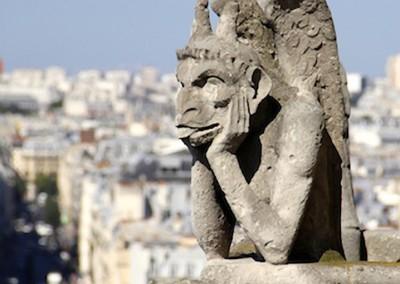 gárgula da Igreja de Notre-Dame, Paris.