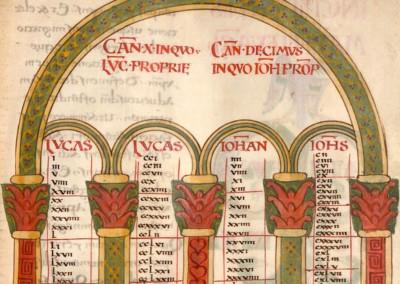 iluminura do livro dos evangelhos, 800-825.