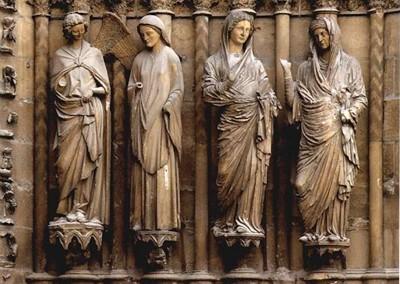 parte externa da Catedral de Reims, França,1211-1516.