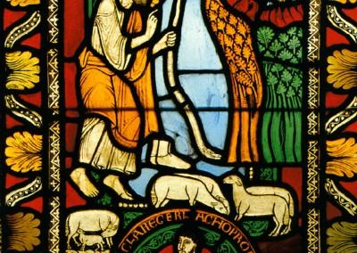 Vitral da Catedral de Reims, França, século XIII.