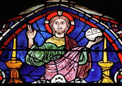vitral da catedral de Chartres, século XII.