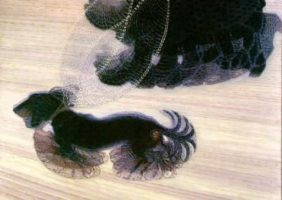 Balla, Giacomo. Dinamismo de cachorro na coleira, 1912.