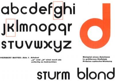 Bayer, Herbert. Tipologia sturm blond, 1925.