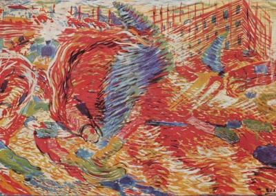 Boccioni, Umberto. A cidade se levamta, 1910.
