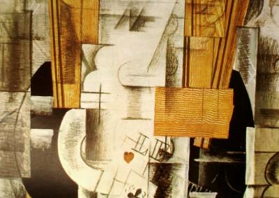 Braque, Georges. Natureza morta e violão, 1911