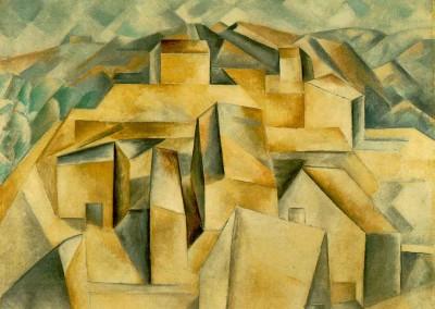 Braque, Georges. Casas na montanha,1909.