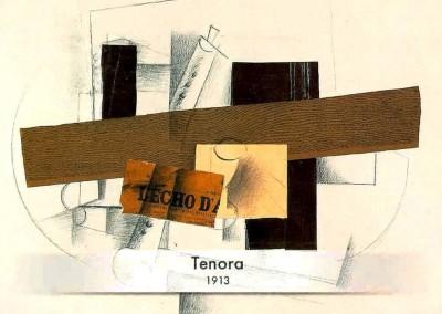 Braque, Georges. Tenora, 1913.