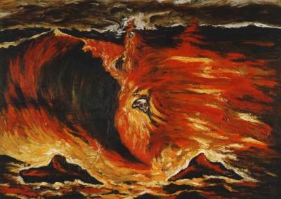 Cucchi, Enzo. Suspiro de uma onda, 1983.