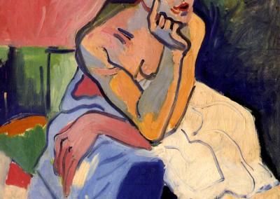 Dérain, André. Mulher de combinação, 1906.