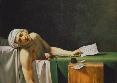 David, Jacques-Louis Marat assassinado, 1793.