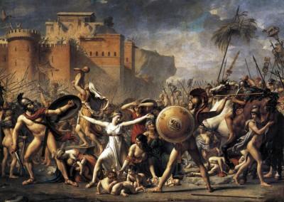 David, Jacques Louis. A intervenção das sabinas, 1799.