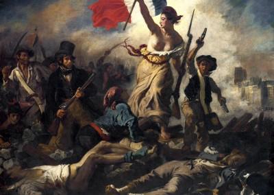 Delacroix, Eugène. a liberdade guiando o povo, 1830.
