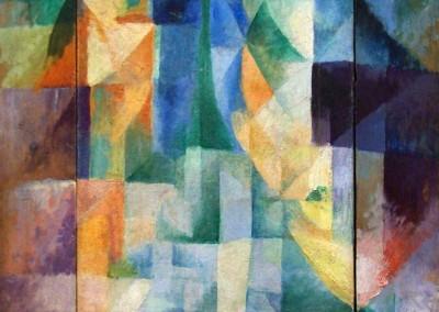 Delaunay, Robert. Janelas simultâneas, 1912. 1912.